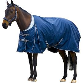 Nepromokavá deka Horze Exclusive 400 gr, modrá - vel. 155 cm