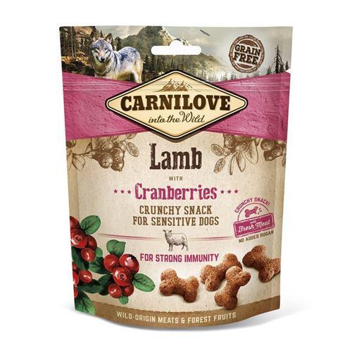 Pamlsek pro psy Carnilove Lamb and Cranberries, 200 g Pamlsek pro psy Carnilove jehně a brusinka 200 g