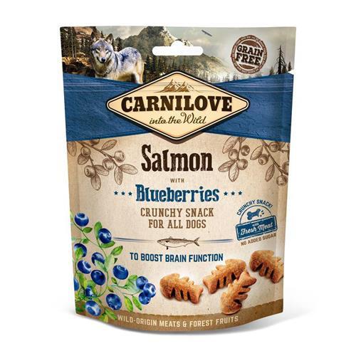 Pamlsek pro psy Carnilove Salmon and Blueberries, 200 g Pamlsek pro psy Carnilove losos a borůvky 200 g