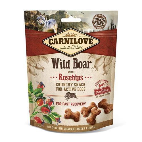 Pamlsek pro psy Carnilove Wild Boar and Rosehips, 200 g Pamlsek pro psy Carnilove Wild Boar 200 g