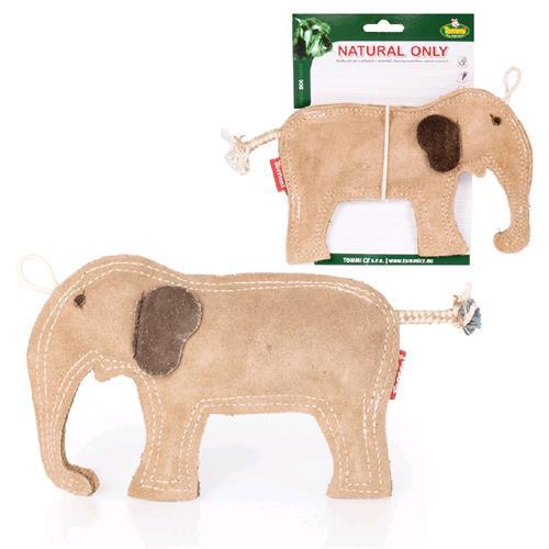 Kožená hračka pro psy Slon, 21 cm Kožená hračka pro psy Slon