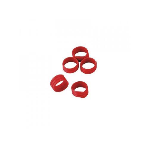 Spirálové rozlišovací kroužky na slepice 25 mm - červené Kroužky spirálové pro drůbež 25mm, červené