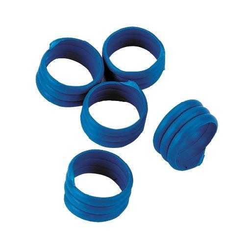 Spirálové rozlišovací kroužky na slepice 25 mm - modré Kroužky spirálové pro drůbež 25mm, modré