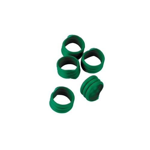 Spirálové rozlišovací kroužky na slepice 25 mm - zelené Kroužky spirálové pro drůbež 25mm, zelené