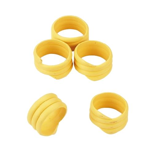 Spirálové rozlišovací kroužky na slepice 25 mm - žluté Kroužky spirálové pro drůbež 25mm, žluté
