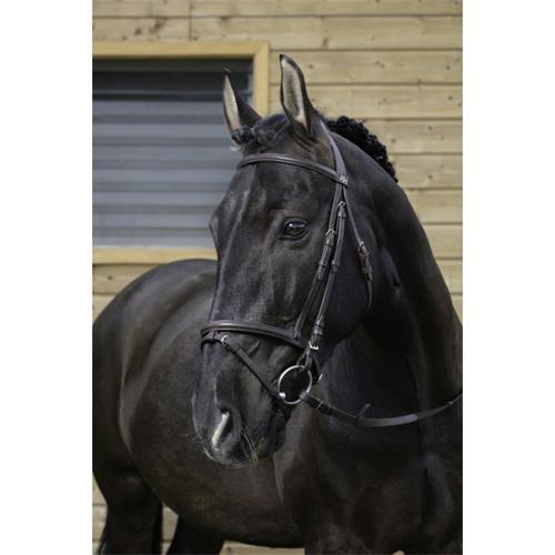Kožená uzdečka Riding World, černá - vel. Cob Uzdečka Riding World EKKIA, černá, vel. Cob