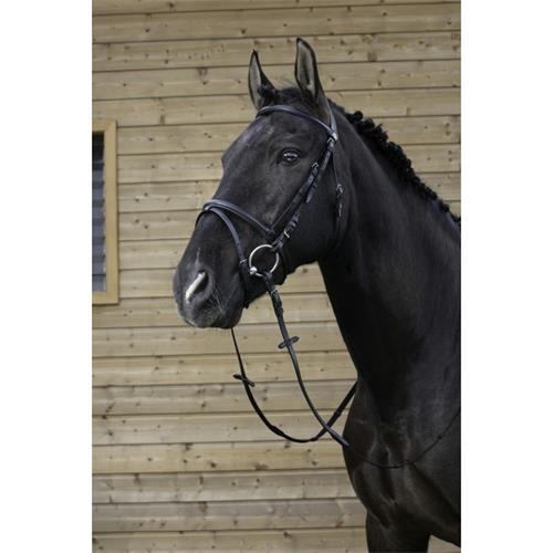 Kožená uzdečka Riding World, černá - vel. Full Uzdečka Riding World EKKIA, černá, vel. Full