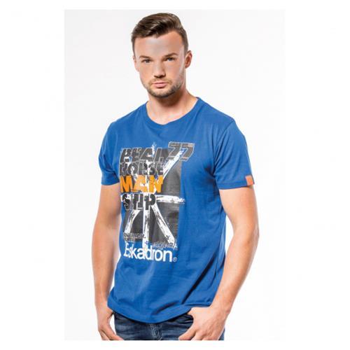 Pánské triko Eskadron KEN-T, korálové modré - vel. L Triko pánské Eskadron KEN-T, modré