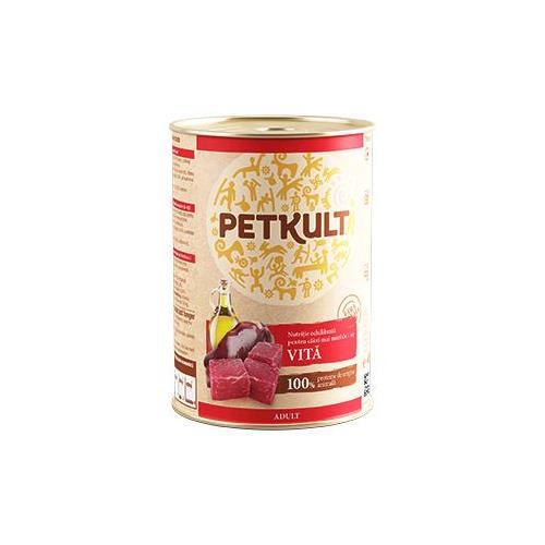 Konzerva pro psy PETKULT Adult, 400 g - hovězí Petkult konzerva hovězí, 400 g