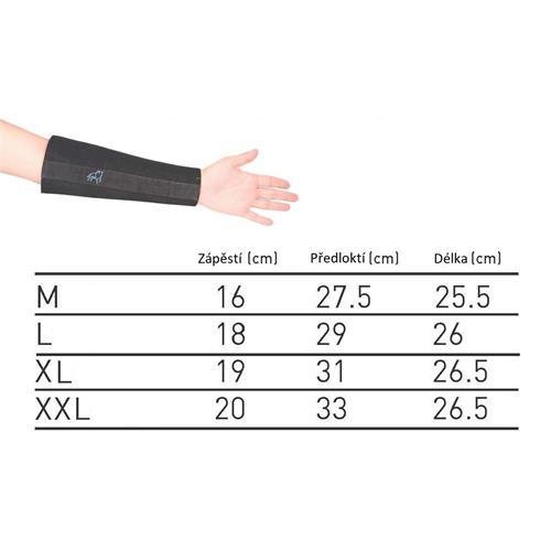 Neoprénový chránič zápěstí, pár - XL Rozměry