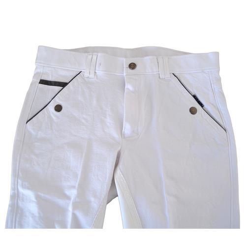 Pánské závodní rajtky QHP, bílé - vel. 44 Rajtky pánské závodní, QHP, bílé, vel. 44