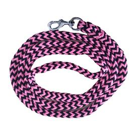 Pletené vodítko ManMat - černo-růžové