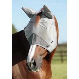 Maska na uši Premier Equine Buster, stříbrná - vel. Full