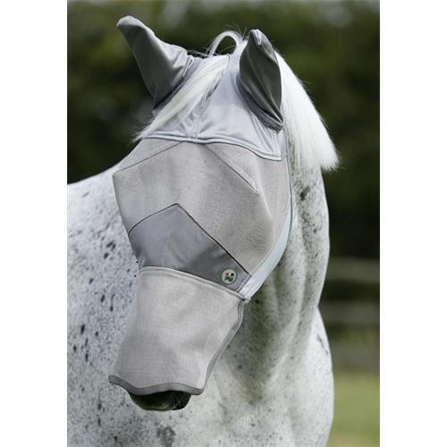 Maska proti hmyzu Premier Equine Buster Xtra, stříbrná - vel. X-Full Maska Premier Buster Xtra, stříbrná, vel. X-Full