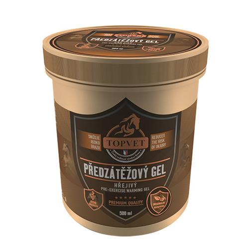 Hřejivý / chladivý gel na nohy Topvet - předzátěžový, 500 ml Gel hřejivý předzátěžový TOPVET, 500 ml