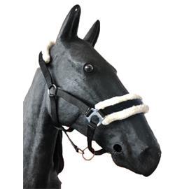 Nylonová ohlávka Ekkia s beránkem - černá, vel. Pony