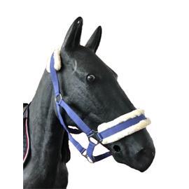 Nylonová ohlávka Ekkia s beránkem - modro-fial., vel. Pony