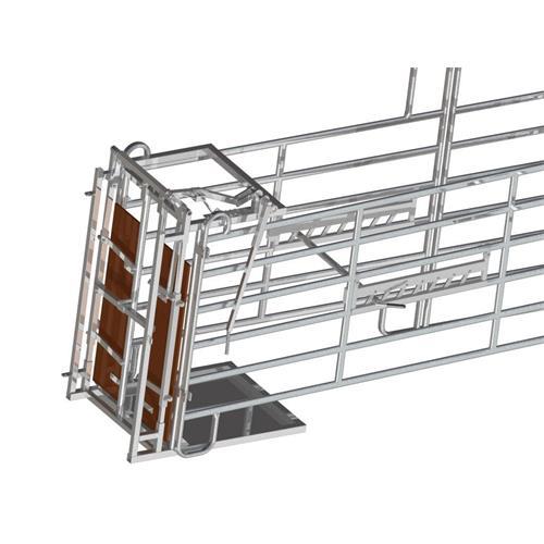 Brzda na ohradní panely proti couvání - boční Brzda do naháněcí uličky