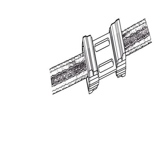 Spojka na pásku do 12 mm Litzclip, pozinkovaná, přímá,5 ks Spojka na pásku do 12 mm Litzclip, pozinkovaná, přímá,5 ks