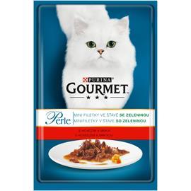 Kapsička pro kočky Gourmet Perle, hovězí a mrkev, 85 g