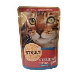 Kapsička pro kočky Petkult Sterilised, tuňák, 100 g