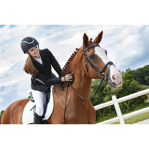 Jezdecká bezpečnostní přilba Equi-Theme Insert, černá - černo-stříbrná, vel. 55-57 Přilba jezdecká Equitheme Insert, černá, vel.55-57