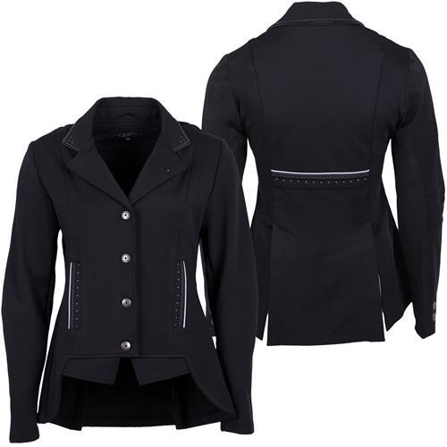 Jezdecké sako QHP Layla, modré/černé - černé, vel. 44 Sako jezdecké QHP Layla, černé, vel. 44