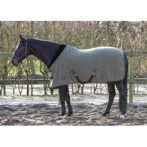 Odpocovací deka Harrys Horse Furby, olivová s černým lemem - vel. 125/175 cm Deka odpoc. HH Furby, šedo-černá , vel. 125 cm