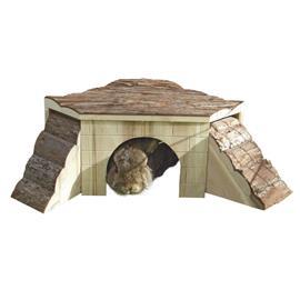 Domek pro hlodavce s rampami (pro králíčky, morčata, fretky, činčily)