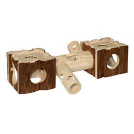 Dřevěná prolézačka pro křečka, 40 x 12 x 10 cm