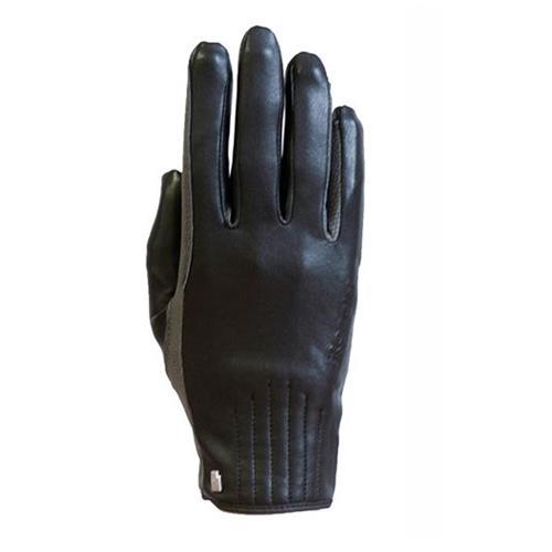 Jezdecké rukavice Roeckl Wels, černo-šedé - vel. 8,5 Rukavice Roeckl Wels, černo-šedé, vel. 8,5