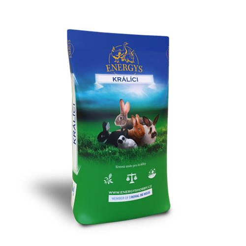 Granule pro králíky Energys Champion, 25 kg ENERGYS KRÁLÍK KLASIK, 25 kg, granule