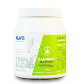 ALAVIS Triple Blend Extra silný + Cannabis CBD Extrakt, 700g