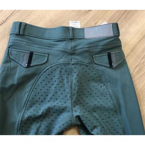 Dámské rajtky QHP Coco, šedo-zelené - vel. 36 Rajtky dámské QHP Coco, šedo-zelené, vel. 36 XX