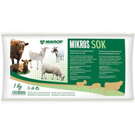 Minerální doplněk pro skot, ovce, kozy, MIKROS SOK, 1 kg