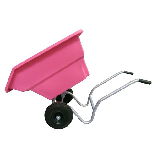 Dětské výklopné zahradní kolečko 125 l - růžový Dětské výklopné zahradní kolečko 125 l