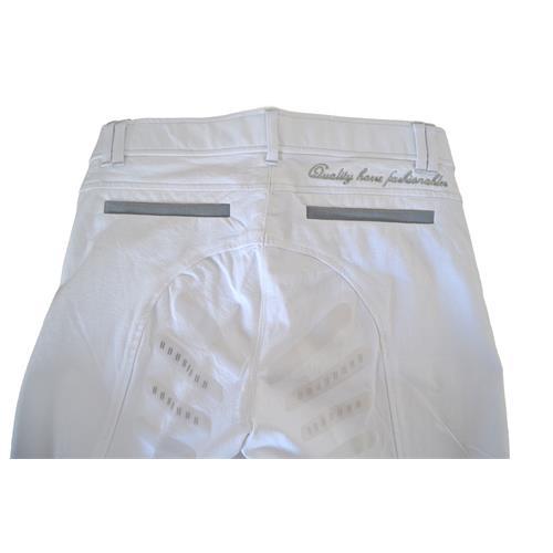 Dámské závodní rajtky QHP Regan, bílé - vel. 44 Rajtky dámské závodní, QHP, bílé, vel. 44
