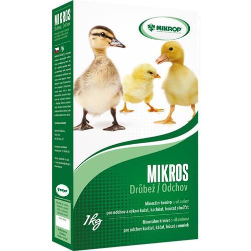 Minerální doplněk MIKROS drůbež s vitamíny, 1 kg Minerální doplněk MIKROS drůbež s vitamíny, 1 kg