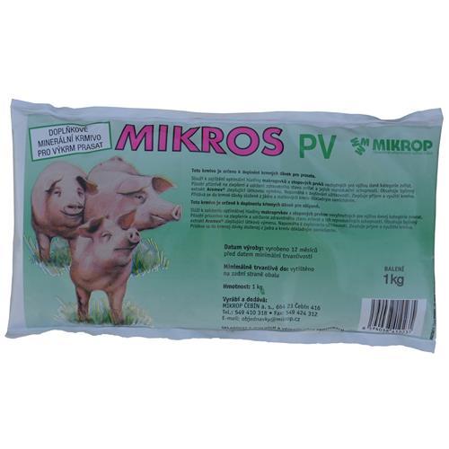 Minerální doplněk pro prasata MIKROS PV, 1 kg Minerální doplněk pro prasata MIKROS PV, 1 kg