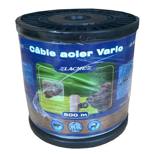 Ocelové lanko pro elektrické ohradníky LACME VARIO, 7 pramenů Ocelové lanko LACME VARIO pro elektrické ohradníky 1,2 mm