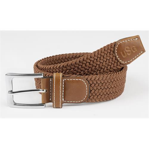 Pletený pásek USG Casual - hnědý, vel. 80 cm Pásek pletený, USG, hnědý, 80 cm
