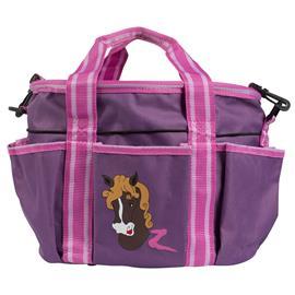 Dětská taška na čištění Horze, s potiskem koníka - fialová