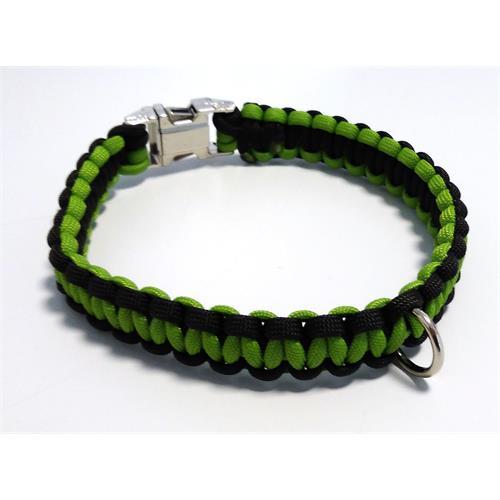 Paracord obojek pro psy, zelený - 35 cm Paracord barva zelený zelený střed.