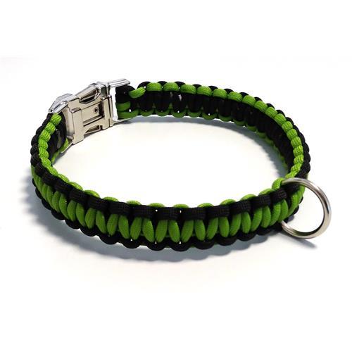 Paracord obojek pro psy, zelený - 40 cm Paracord barva zelený zelený střed.