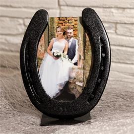 Fotorámeček na výšku, ručně vyrobený - černý lesk
