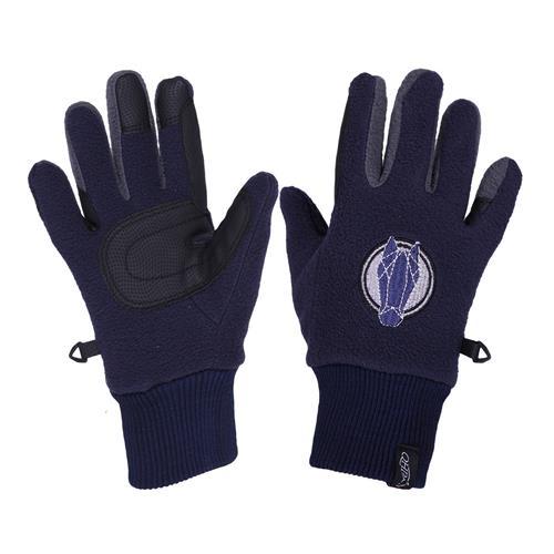 Dětské fleecové rukavice QHP - tmavě modré, 5-6 let Rukavice dětské fleece QHP, tm.modré, 8-10 let