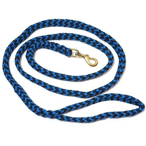 Pletené vodítko ManMat, 2,5 m - černo-modré Vodítko pletené ManMat, černo-modré