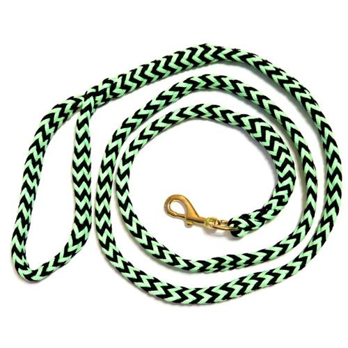 Pletené vodítko ManMat, 2,5 m - černo-světle zelené Vodítko pletené ManMat, černo-světle zelené