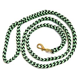 Pletené vodítko ManMat - černo-světle zelené