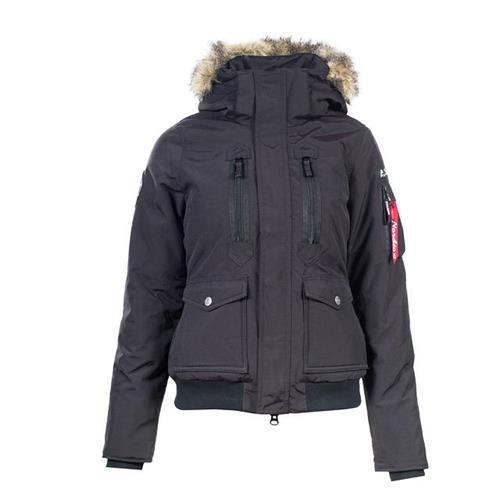 Dámská zimní bunda Horze Supreme Brenda, černá - vel. 42 Bunda zimní Brenda Horze, krátká, černá, vel. 42